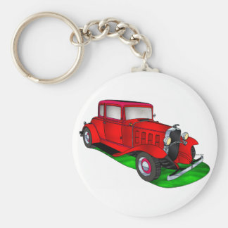 32 Chevrolet Coupe Basic Round Button Key Ring