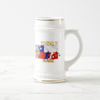 32 Country Chile MMX flag 2010 La Roja Gifts Beer Steins
