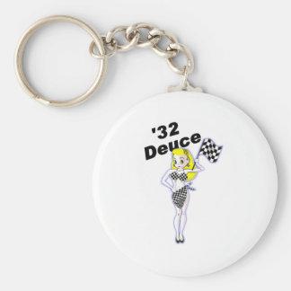 32 Deuce Blonde Basic Round Button Key Ring