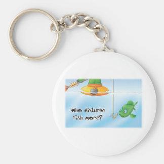 32_fish basic round button key ring
