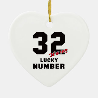 32 It's my lucky number Ceramic Heart Decoration