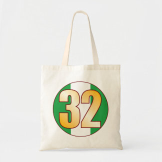 32 NIGERIA Gold Tote Bag