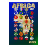 32 Qualifying countries for South Africa 2010 MMX Print