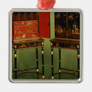32:Two Chinoiserie cabinets, c.1770 Christmas Ornament