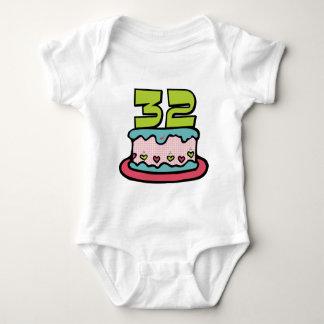 32 Year Old Birthday Cake Baby Bodysuit
