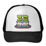 32 Year Old Birthday Cake Hat
