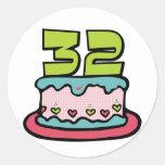 32 Year Old Birthday Cake Sticker