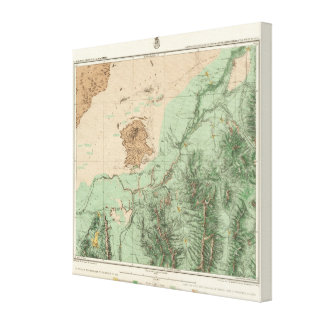 32C Land Classification Map Canvas Print