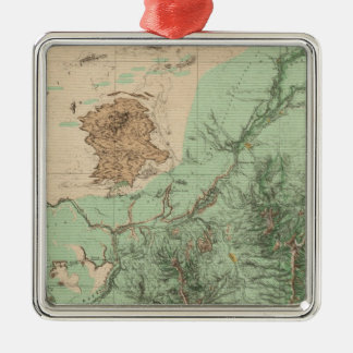 32C Land Classification Map Christmas Ornament