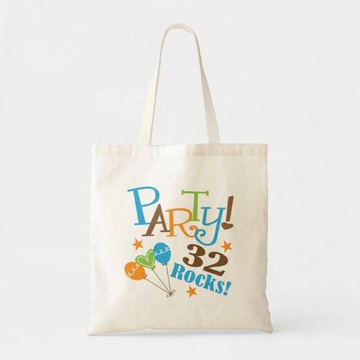 32nd Birthday Gift Ideas Canvas Bag