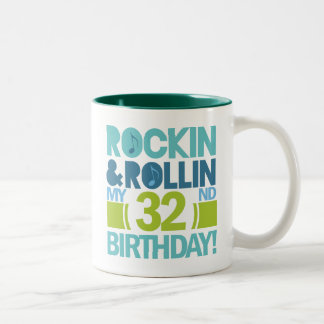 32nd Birthday Gift Ideas Two-Tone Coffee Mug