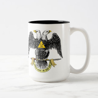32nd Degree Scottish Rite Black Eagle Two-Tone Coffee Mug