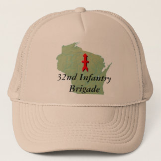 32nd Infantry with Wisconsin Map Trucker Hat