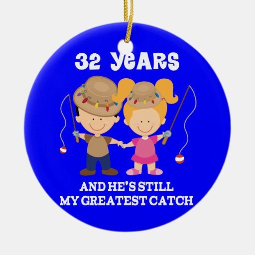 32nd Wedding Anniversary Funny Gift For Her Ornaments