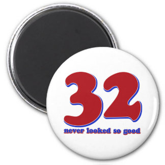 32years 6 cm round magnet