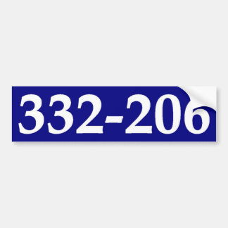 332-206. BUMPER STICKER
