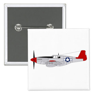 332nd Fighter Group - Redtails - Tuskegee Airmen 15 Cm Square Badge