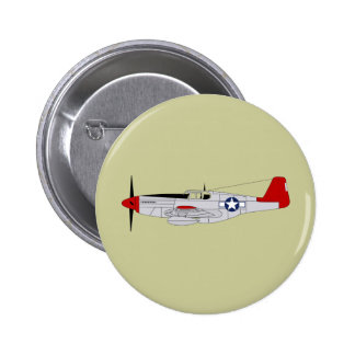 332nd Fighter Group - Redtails - Tuskegee Airmen 6 Cm Round Badge