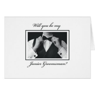 3330 Will You Be Junior Groomsman? Card