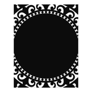 3332__doily-shape-1 BLACK WHITE CIRCLE SHAPES DOIL Full Color Flyer