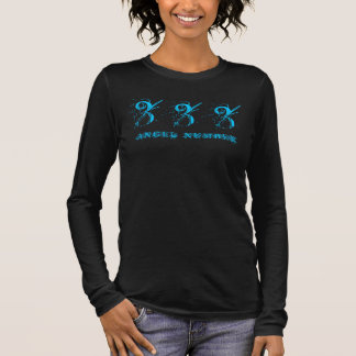 333 (ANGEL NUMBER) Synchronicity, Blue - Long Sleeve T-Shirt
