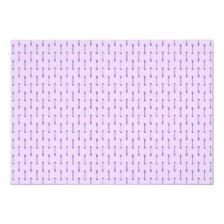 335 PASTEL PURPLE MAUVE LIGHT COLOR ARROWS DIRECTI 13 CM X 18 CM INVITATION CARD