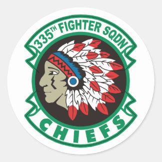 335th Fighter Squadron Round Sticker