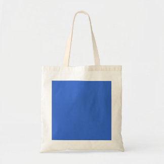 3366CC Solid Blue Background Color Template Budget Tote Bag
