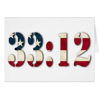 33:12 #1 GREETING CARD