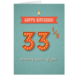 33 1/3 amazing years card
