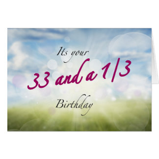 33 1/3 birthday sparkles card