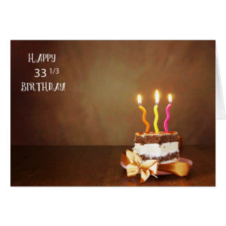 33 1/3 curly candles card