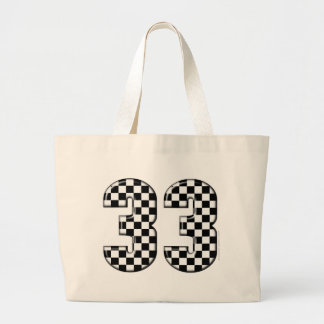 33 auto racing number canvas bags
