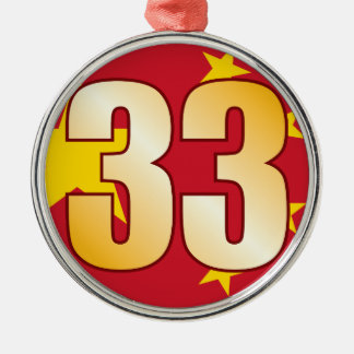 33 CHINA Gold Christmas Ornament