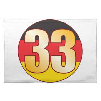 33 GERMANY Gold Placemat