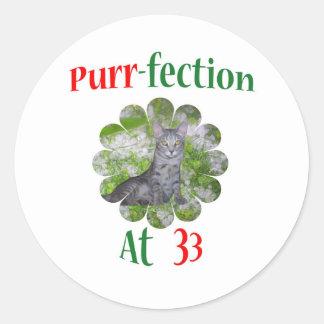 33 Purr-fection Sticker