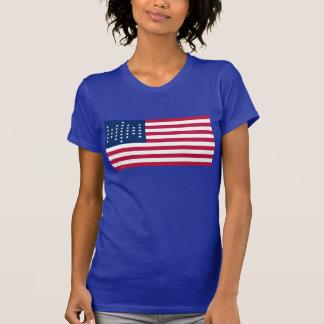 33 Star Diamond US Flag Tee Shirts