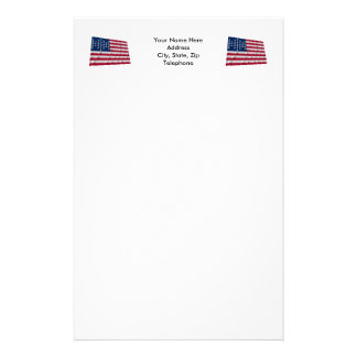 33-star flag, Fort Sumter garrison pattern Customized Stationery