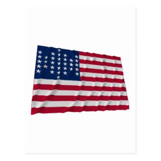 33-star flag, Fort Sumter garrison pattern Postcard