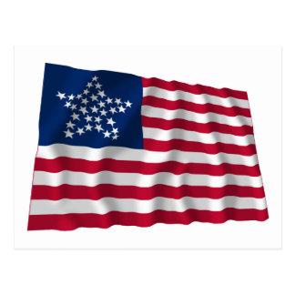 33-star flag, Great Star pattern Postcard