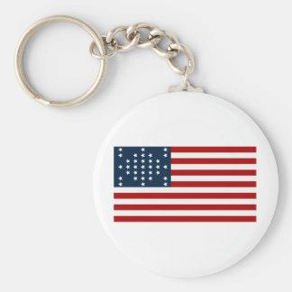 33 Star Fort Sumter American Civil War Flag Basic Round Button Key Ring