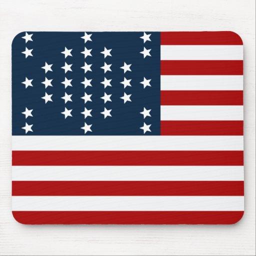 33 Star Fort Sumter American Civil War Flag Mouse Pad
