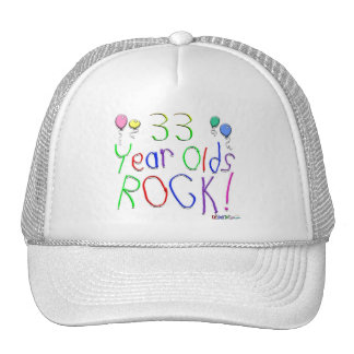 33 Year Olds Rock ! Mesh Hats