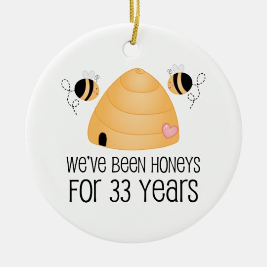 33rd Anniversary Couple Gift Christmas Ornament