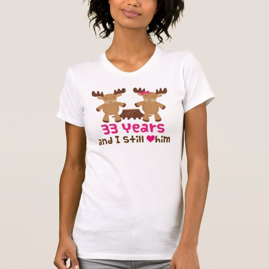 33rd Anniversary Gift For Her T-Shirt