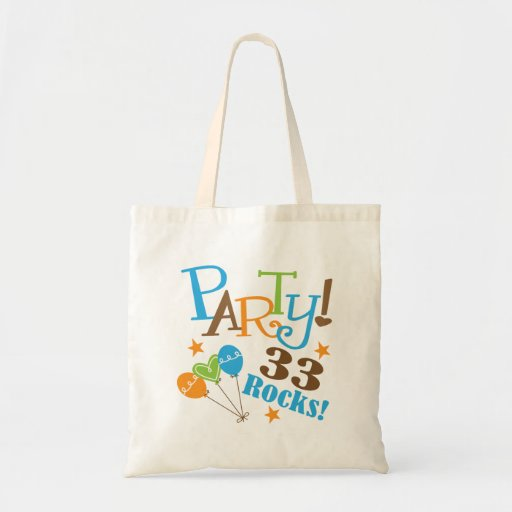 33rd Birthday Gift Ideas Tote Bag