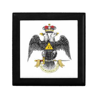 33rd Degree Scottish Rite Black Eagle Gift Box
