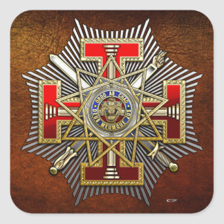 33rd Degree Sovereign Grand Inspector General Square Sticker