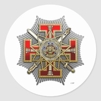 33rd Degree: Sovereign Grand Inspector General Round Sticker