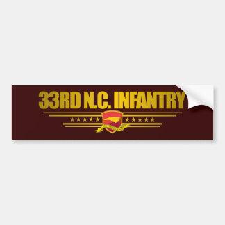 33rd North Carolina Infantry Car Bumper Sticker